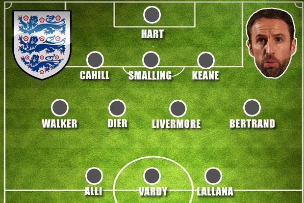 Sơ đồ của đội tuyển Anh