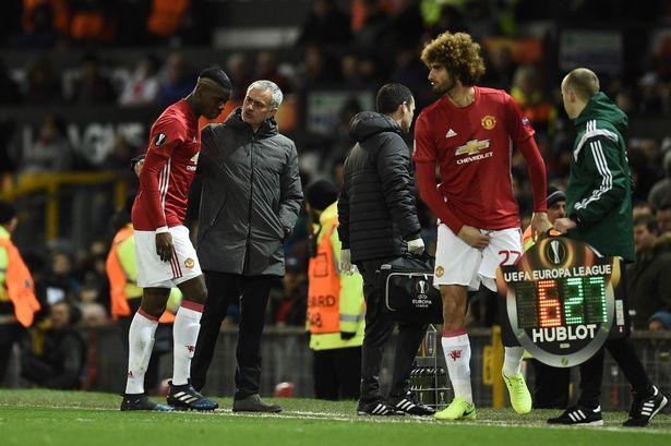 Cả Pogba và Fellaini đều bị chấn thương