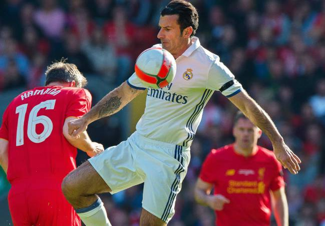Figo không có cơ hội thi đấu bên cạnh Gerrard