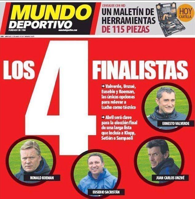 Các ứng cử viên sẽ thay thế Enrique