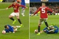 Chơi xấu với Eden Hazard, Marcos Rojo có nguy cơ bị phạt nặng
