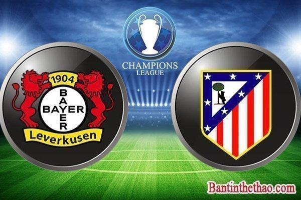 Link sopcast Atletico Madrid - Bayer Leverkusen 16/3/2017 vòng 1/8 lượt về Cup C1