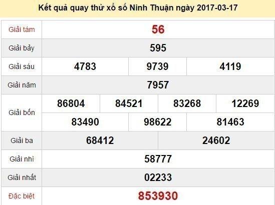 Quay thử kết quả xổ số miền Trung - sổ số Ninh Thuận