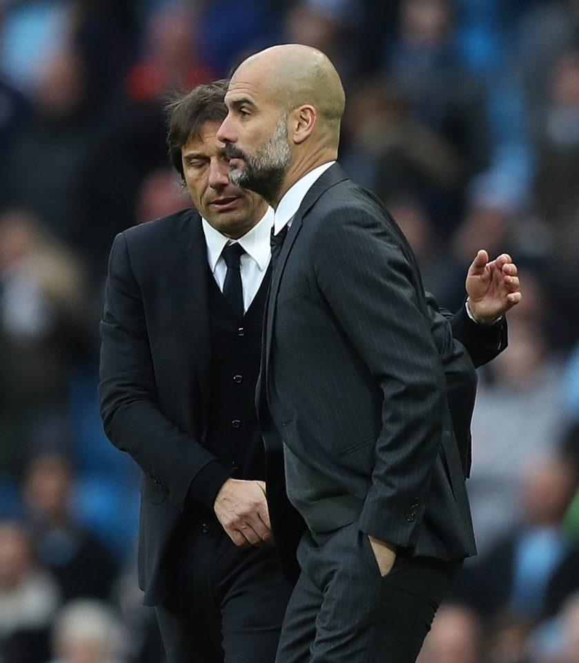 Conte và Pep gặp lại nhau