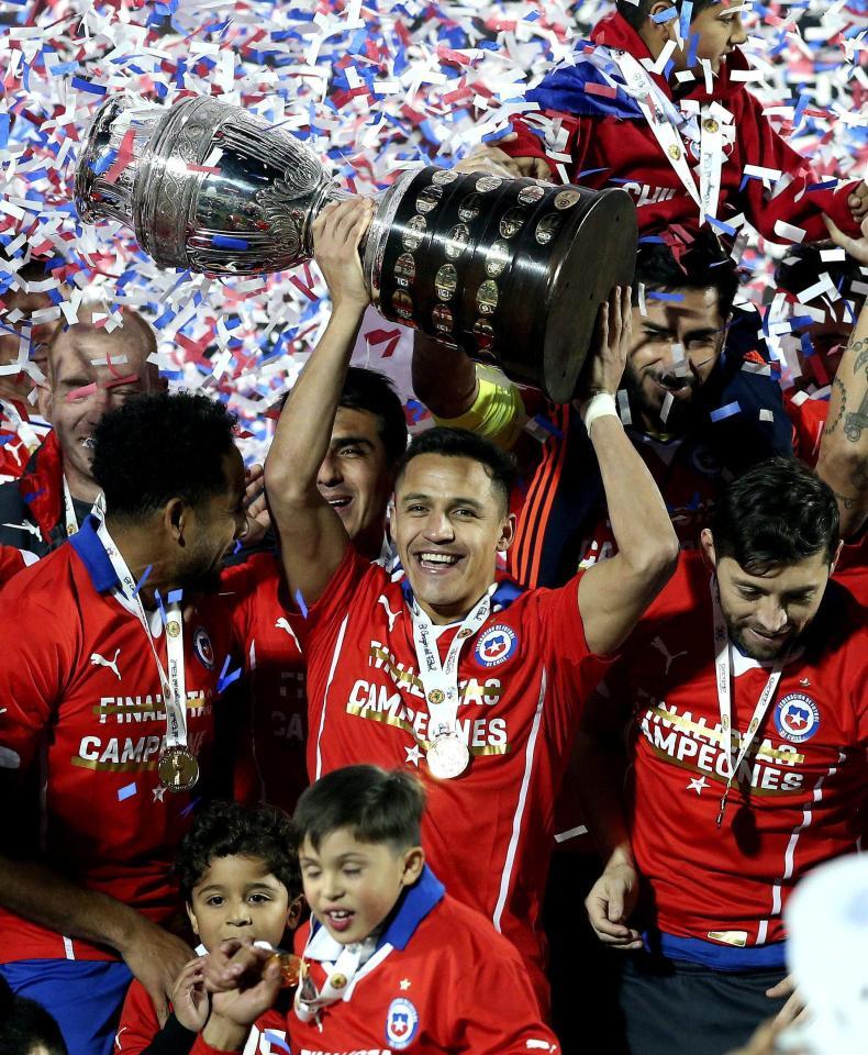Chile đã vô địch Copa America ở hai giải gần đây