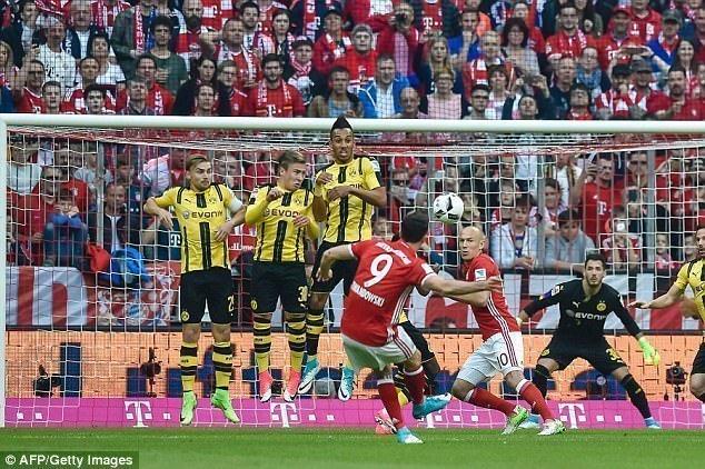 Lewandowski sút phạt đẳng nhân đôi cách biệt