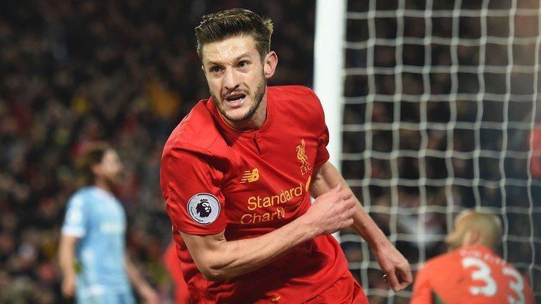 Adam Lallana có thể trở lại đội hình Liverpool