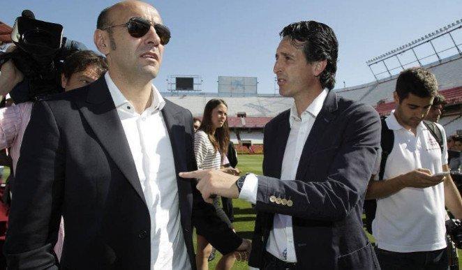 Monchi và Unai Emery từng có 3 năm đồng hành tại Sevilla
