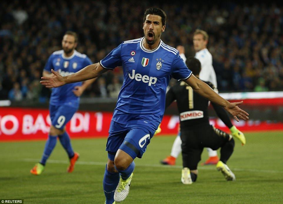 Sami Khedira mở tỉ số cho Juve ở phút thứ 7