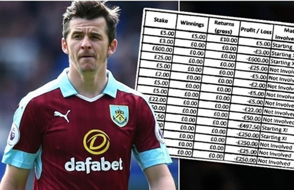 Barton bị treo giò 18 tháng vì cá độ bóng đá