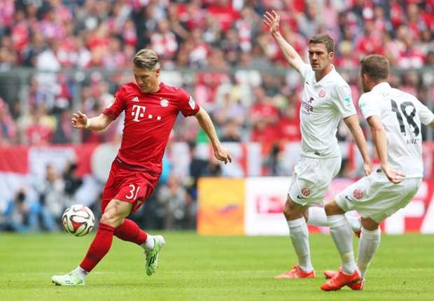Bayern Munich - Mainz ngày 22/4/2017
