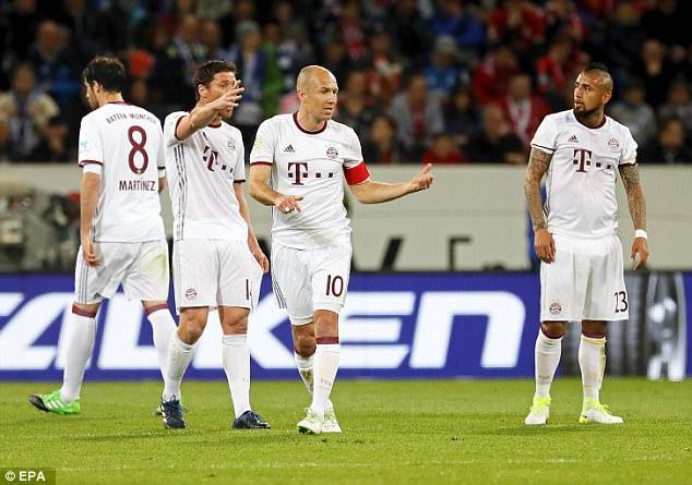 Mạch 21 trận bất bại liên tiếp của Bayern bị chặn đứng trên sân Hoffenheim