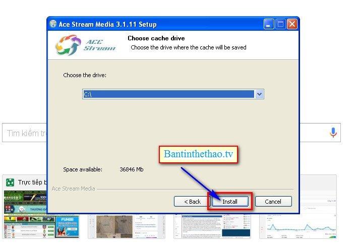 Chọn nơi mà bạn muốn lưu lại phần mềm rồi nhấn Install. Ở đây mình chọn ổ C
