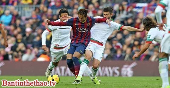 Trận đấu giữa Granada - Barcelona vòng 29 giải bóng đá La Liga