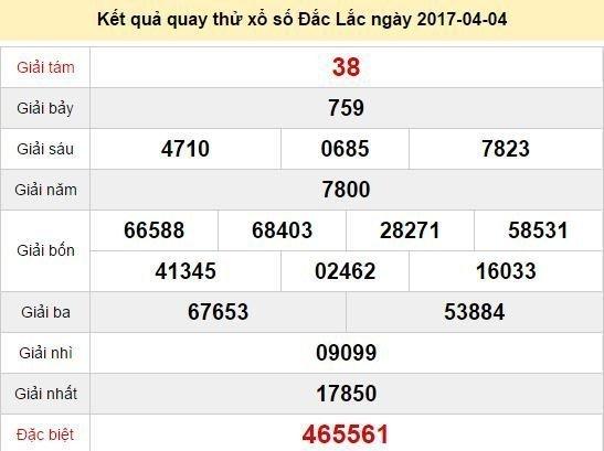 Quay thử KQ XSDLK 4/4/2017