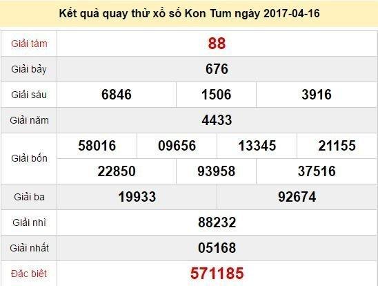 Quay thử KQ XSKT 16/4/2017