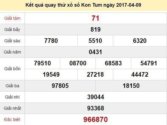 Quay thử KQ XSKT 9/4/2017