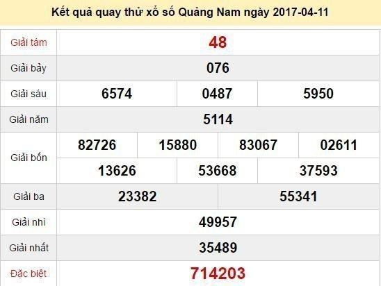 Quay thử KQ XSQNM 11/4/2017