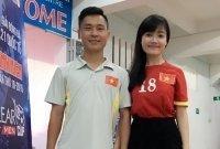 Bạn gái xinh đẹp hát cổ vũ tuyển thủ U20 Việt Nam