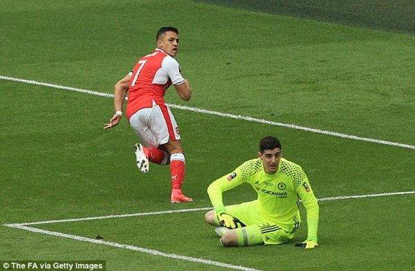 Sanchez băng vào ghi bàn mở tỷ số cho Arsenal