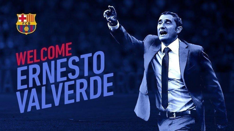 Ernesto Valverde đã chính thức trở thành tân HLV của Barcelona