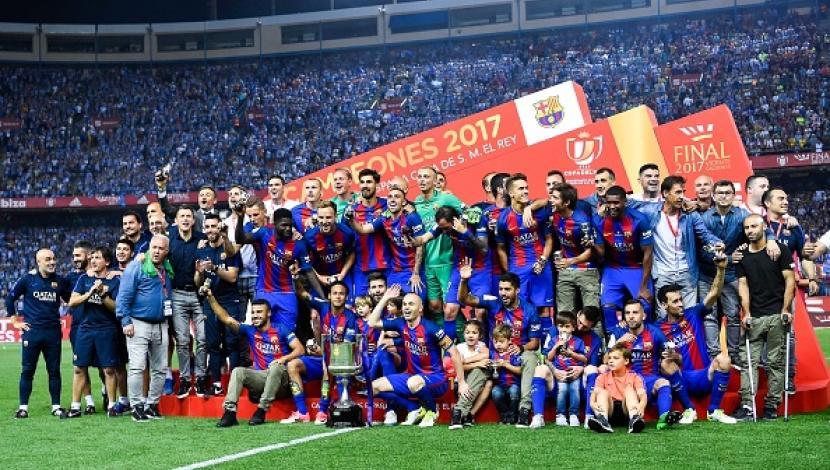 Với năm thứ ba liên tiếp đăng quang, Barca đã có chức vô địch Cúp Nhà vua