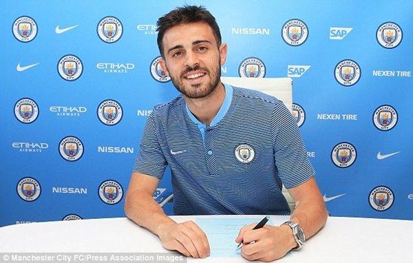 Bernardo Silva ký hợp đồng 5 năm với Man City