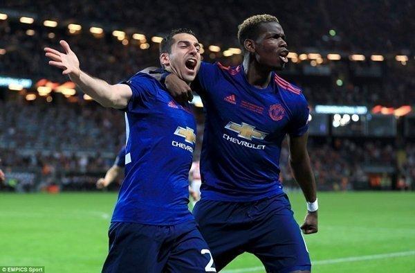 Henrikh Mkhitaryan và Paul Pogba ghi bàn giúp M.U đánh bại Ajax 2-0 để giành chức vô địch, qua đó bảo đảm tấm vé dự Champions League mùa tới