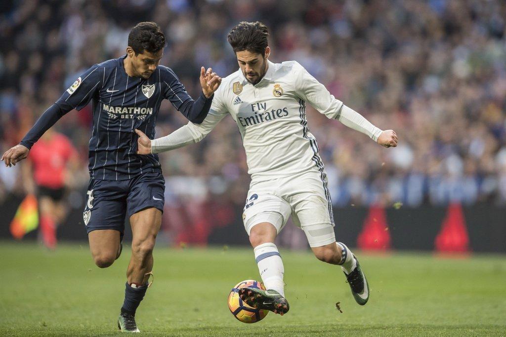 Isco có dịp gặp lại đội bóng cũ và anh cũng là một trong những lý do để Malaga đá không quyết tâm ở trận đấu này