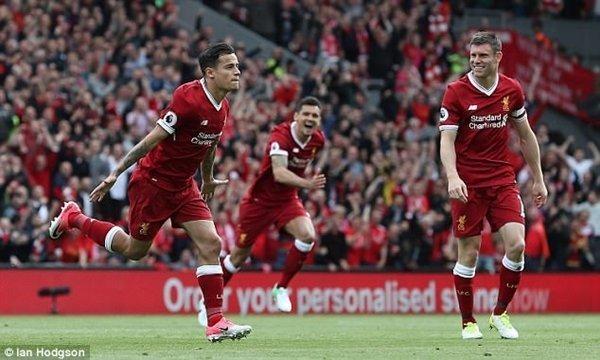 Liverpool là 1 trong 6 đội bóng của Premier League góp mặt ở top 10