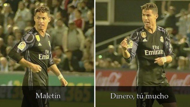 Hành động của Ronaldo được truyền hình ghi lại