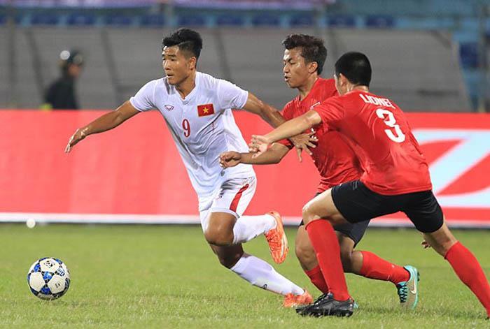 Tiền đạo Đức Chinh (số 9) sẽ là con át chủ bài của U20 Việt Nam tại U20 FIFA World Cup 2017.