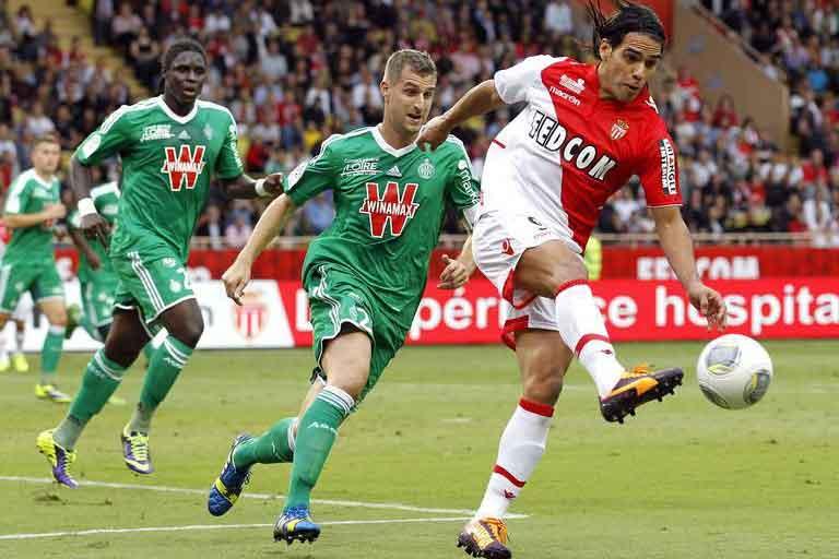 Monaco vs Saint-Etienne đấu bù vòng 31 giải vô địch bóng đá Pháp.