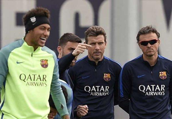 Neymar và trợ lý Unzue mâu thuẫn trong một buổi tập luyện gần đây