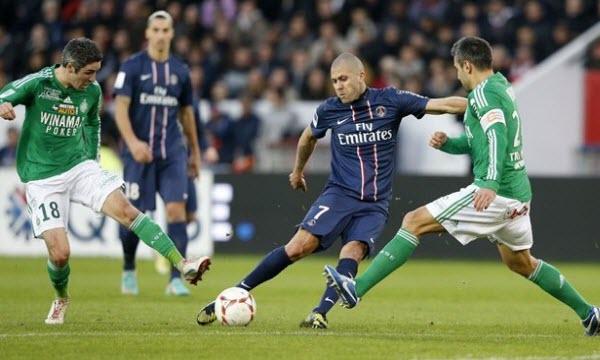 PSG vs Saint-Etienne vòng 37 giải vô địch bóng đá Pháp.