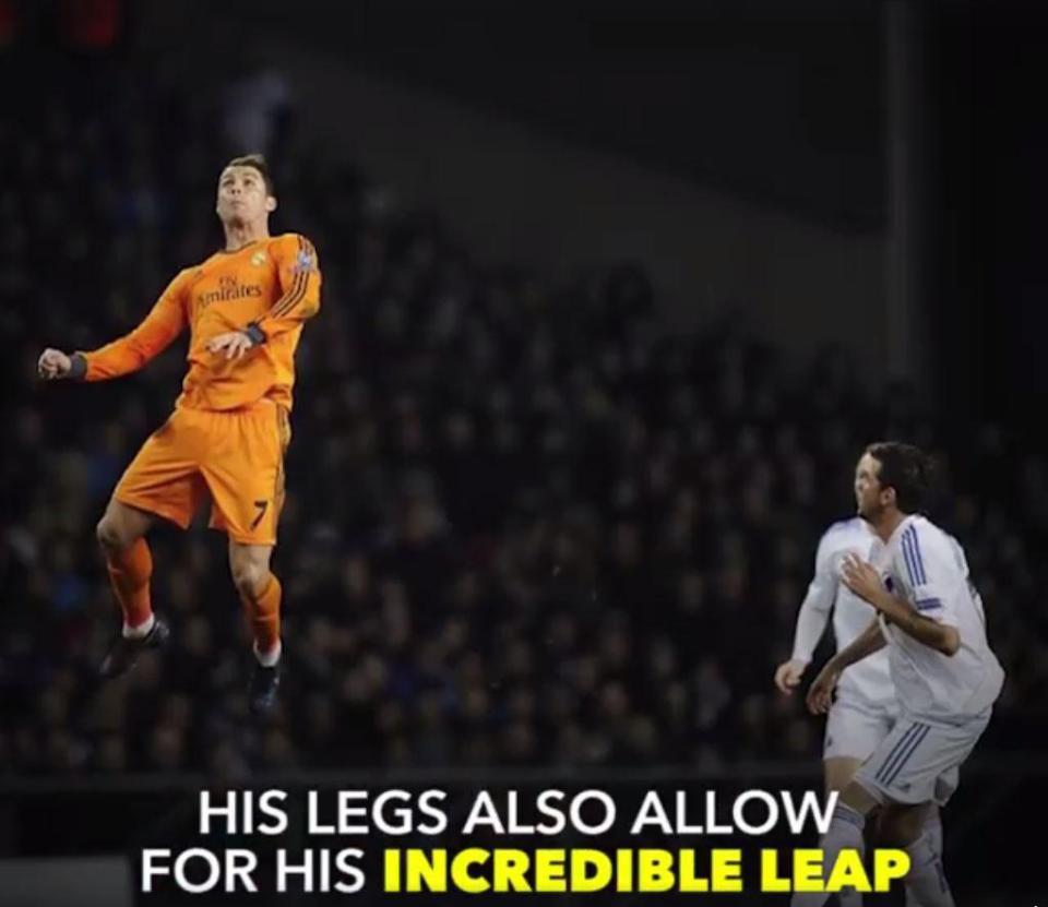 Anh nhảy cao hơn các đối thủ