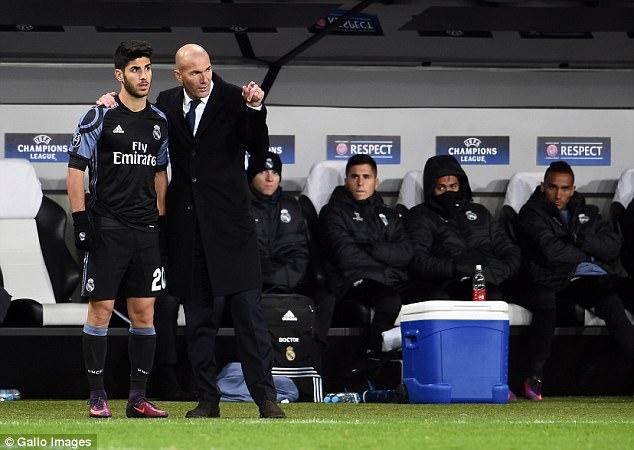 Asensio nhanh chóng trở thành một nhân tố quan trọng của HLV Zidane