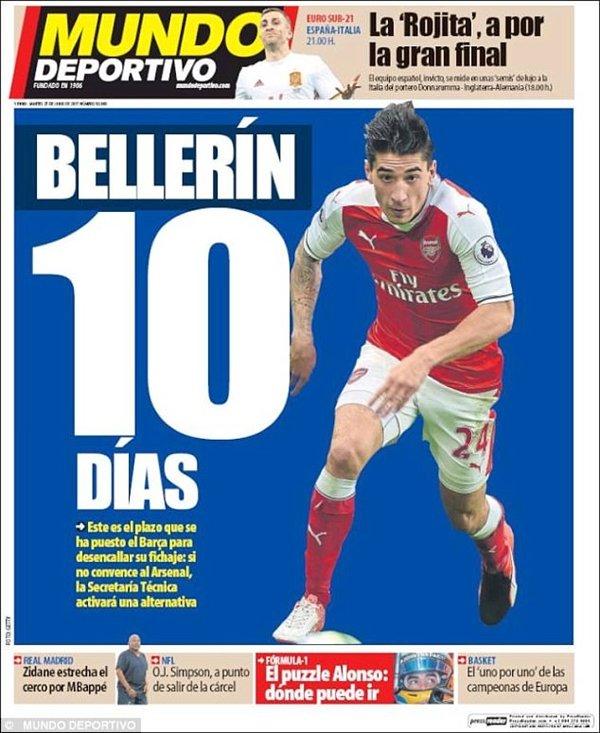 Bellerin có 10 ngày để quyết định ở lại Emirates hoặc trở lại thi đấu cho Barcelona