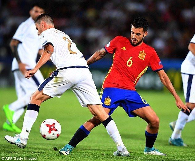 Ceballos đang thi đấu rất tốt trong màu áo U21 Tây Ban Nha