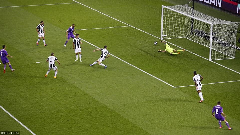 Cristiano Ronaldo ghi bàn thắng mở tỷ số cho Real Madrid