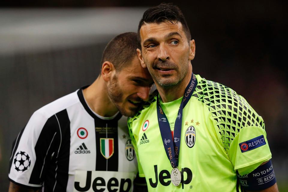 Juventus có 2 đại diện là Gienluigi Buffon và Leonardo Bonucci
