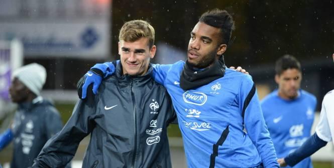 Griezmann và Lacazette đang khoác áo đội tuyển Pháp