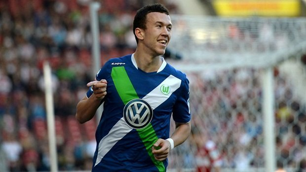 Ivan Perisic thi đấu cho Wolfsburg trước khi sang Inter