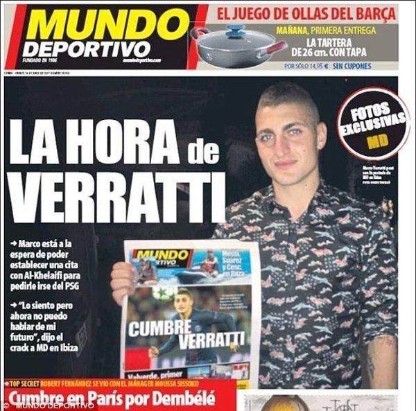 Mundo Deportivo phụ họa bằng một bài trên trang nhất