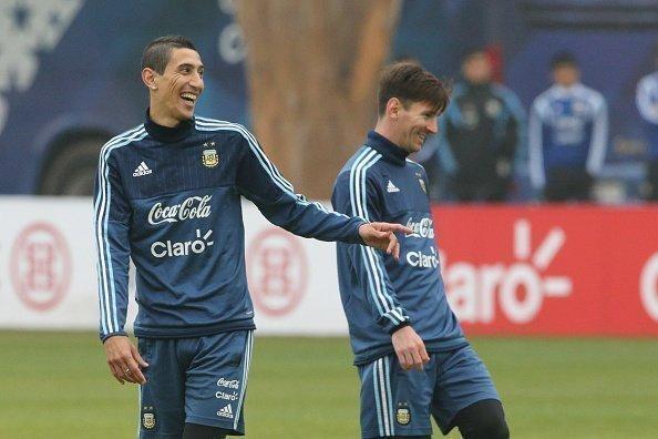 Ở đội tuyển Argentina, Di Maria chơi ăn ý và hỗ trợ Messi rất nhiều