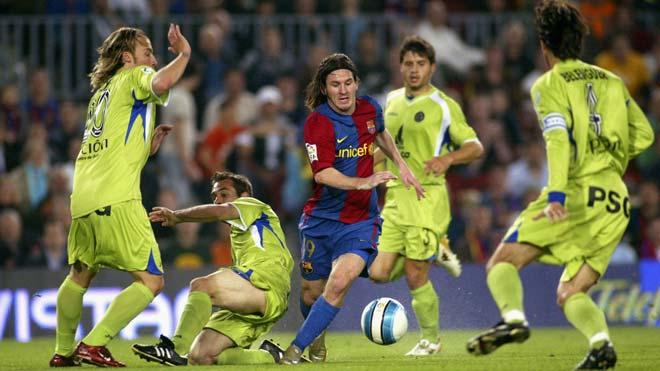 Messi solo ghi bàn vào lưới Getafe 10 năm trước