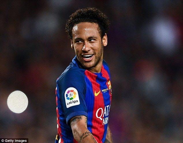 Tiền đạo Neymar của Barcelona được đánh giá là cầu thủ đắt giá nhất thế giới
