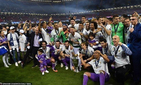 Real giành 3 chức vô địch Champions League trong 4 năm gần đây dưới nhiệm kỳ thứ tư của Perez