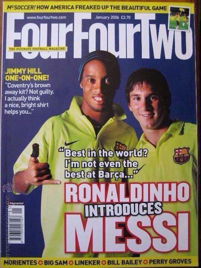Ronaldinho và Messi trên tạp chí thể thao