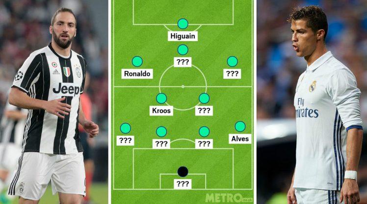 Ronaldo và Higuain sẽ lĩnh xướng hàng công Real và Juve